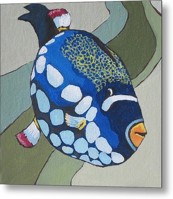 Clown Triggerfish Metal Print by Sandy Tracey
