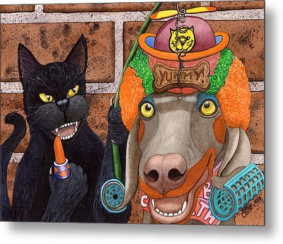 Clowning Around Metal Print by Catherine G McElroy