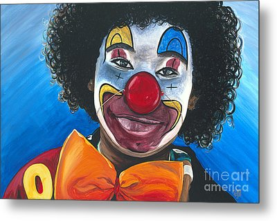 Clowning Around Metal Print by Patty Vicknair
