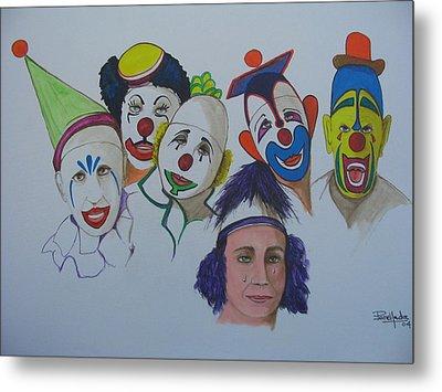 Clowns Metal Print