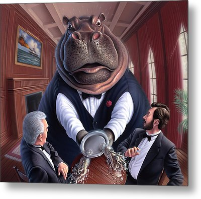 Clumsy Metal Print by Jerry LoFaro