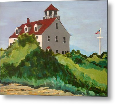 Coast Guard Station Block Island Ri Metal Print