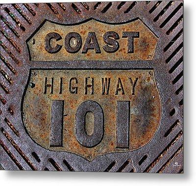 Coast Highway 101 Metal Print by Russ Harris