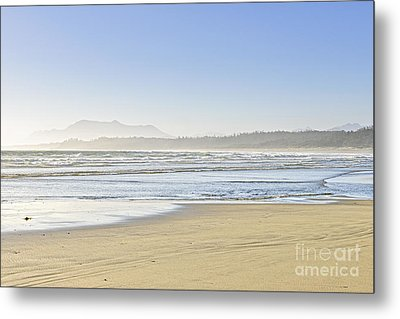 Coast Of Pacific Ocean On Vancouver Island Metal Print
