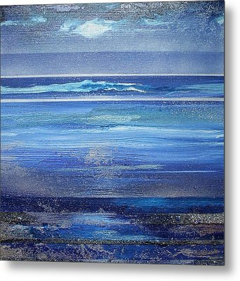 Coast Series Blue Am6 Metal Print by Mike   Bell