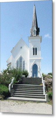 Coastal Church Metal Print