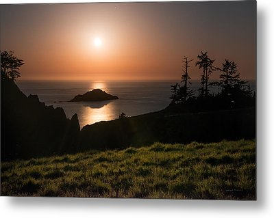 Coastal Moonlight Metal Print by Leland D Howard