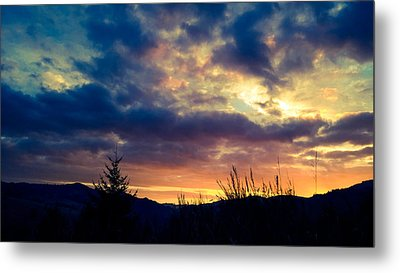 Coastal Mountain Sunrise X Metal Print