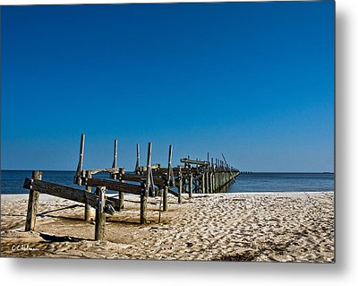 Coastal Remains Metal Print by Christopher Holmes