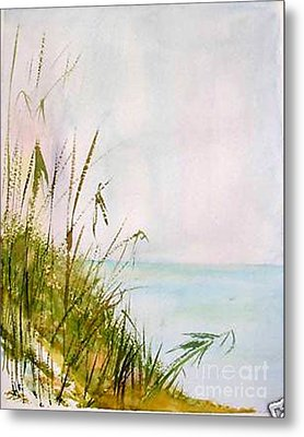 Metal Print featuring the painting Coastal Scene by Sibby S