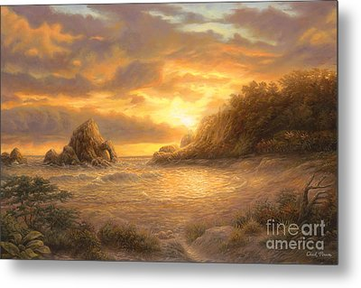 Coastal Sunset Metal Print by Chuck Pinson