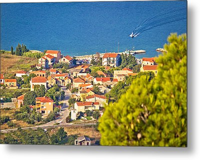 Coastal Village On Island Of Pasman Metal Print