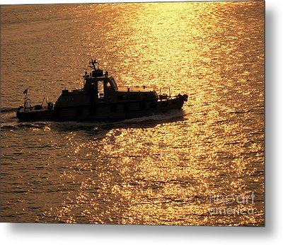 Coastguard Vessel Metal Print by Yali Shi