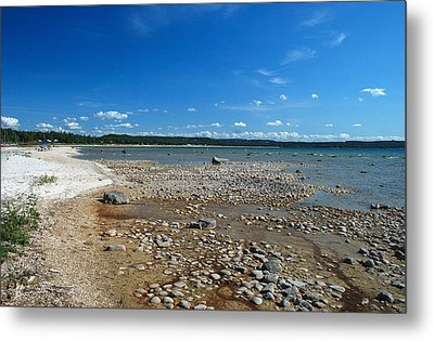 Coastline Of Lake Michigan  Near Petoskey State Park - Little Traverse Bay Metal Print