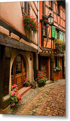 Cobble Stoned Street Metal Print