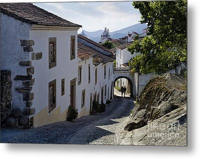 cobbled street Marvao Metal Print