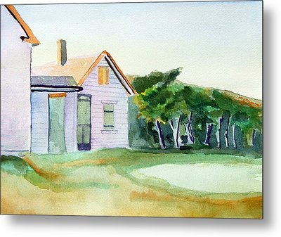 Cobb's House After Edward Hopper Metal Print