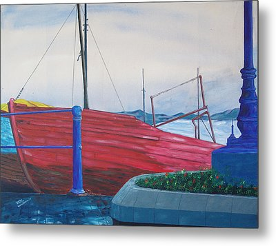 Metal Print featuring the painting Cobh Harbor Ireland by Kevin Callahan