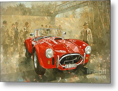 Cobra At Brooklands Metal Print by Peter Miller