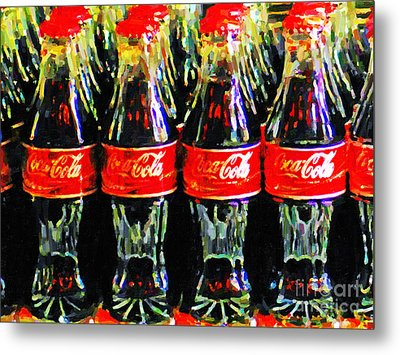 Coca Cola Coke Bottles Metal Print by Wingsdomain Art and Photography