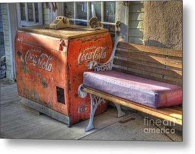 Coca Cola Cooler Back In Time Metal Print by Bob Christopher