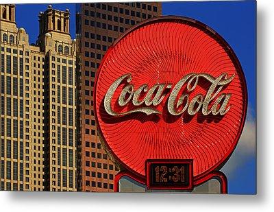 Coca Cola Neon Sign Atlanta Metal Print