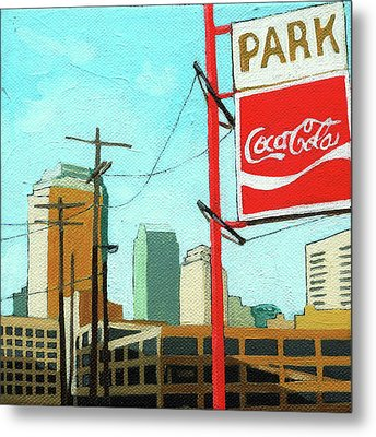 Coca Cola Park Metal Print by Linda Apple