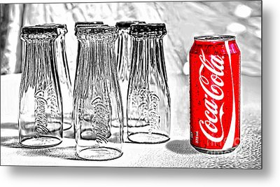 Coca-cola Ready To Drink By Kaye Menner Metal Print