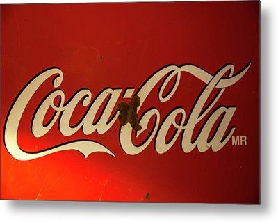 Coca-cola Sign  Metal Print by Toni Hopper