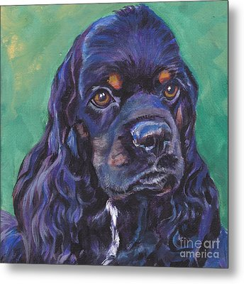 Cocker Spaniel Head Study Metal Print by Lee Ann Shepard