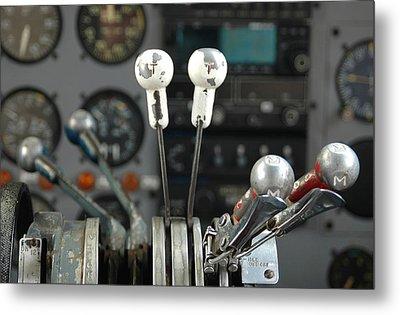 Cockpit Controls Metal Print by Dan Holm