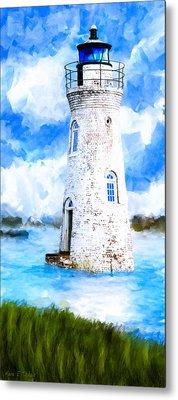 Cockspur Island Light - Georgia Coast Metal Print by Mark Tisdale