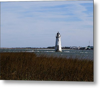 Cockspur Lighthouse Metal Print