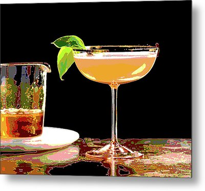 Cocktail And Dreams Metal Print by Charles Shoup