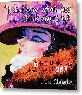 Metal Print featuring the painting Coco Chanel by Igor Postash
