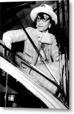 Coco Chanel, Watching Her 1969 Metal Print by Everett