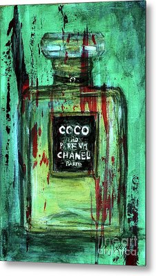 Metal Print featuring the painting Coco Potion by P J Lewis