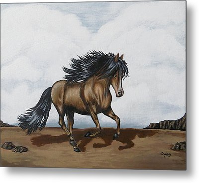 Metal Print featuring the painting Coco by Teresa Wing