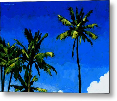 Coconut Palms 5 Metal Print by Douglas Simonson