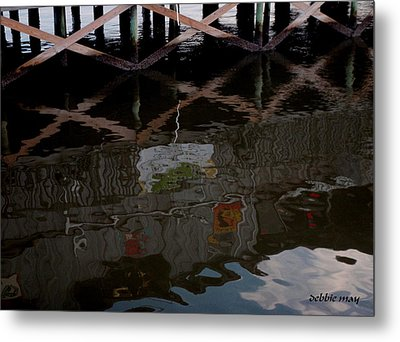 Coconuts Wharf-picasso Style Metal Print by Debbie May