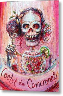 Coctel De Camarones Metal Print by Heather Calderon