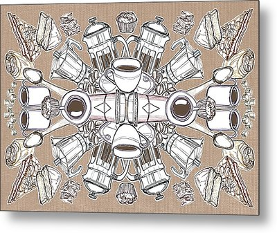 Coffee And Cake Metal Print by Matt Bannister