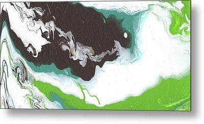 Coffee Bean 2- Abstract Art By Linda Woods Metal Print