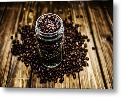 Coffee Beans Metal Print by Ryan Wyckoff