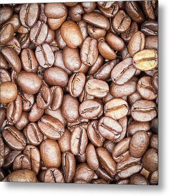 Coffee Beans Metal Print by Wim Lanclus