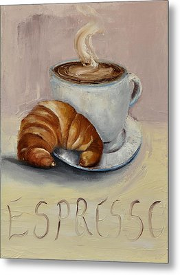 Metal Print featuring the painting Coffee Break by Lindsay Frost
