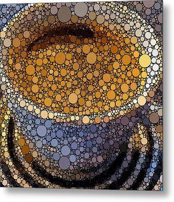 Coffee Bubles Metal Print by Yury Malkov