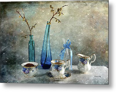 Coffee For One Metal Print by Randi Grace Nilsberg