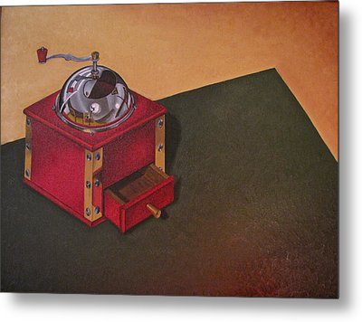 Metal Print featuring the painting Coffee Grinder by Lori Miller