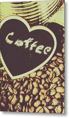 Coffee Heart Metal Print